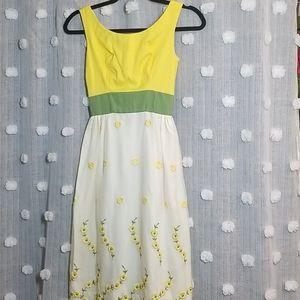 Mad Men Girl's Floral Maxi Dress